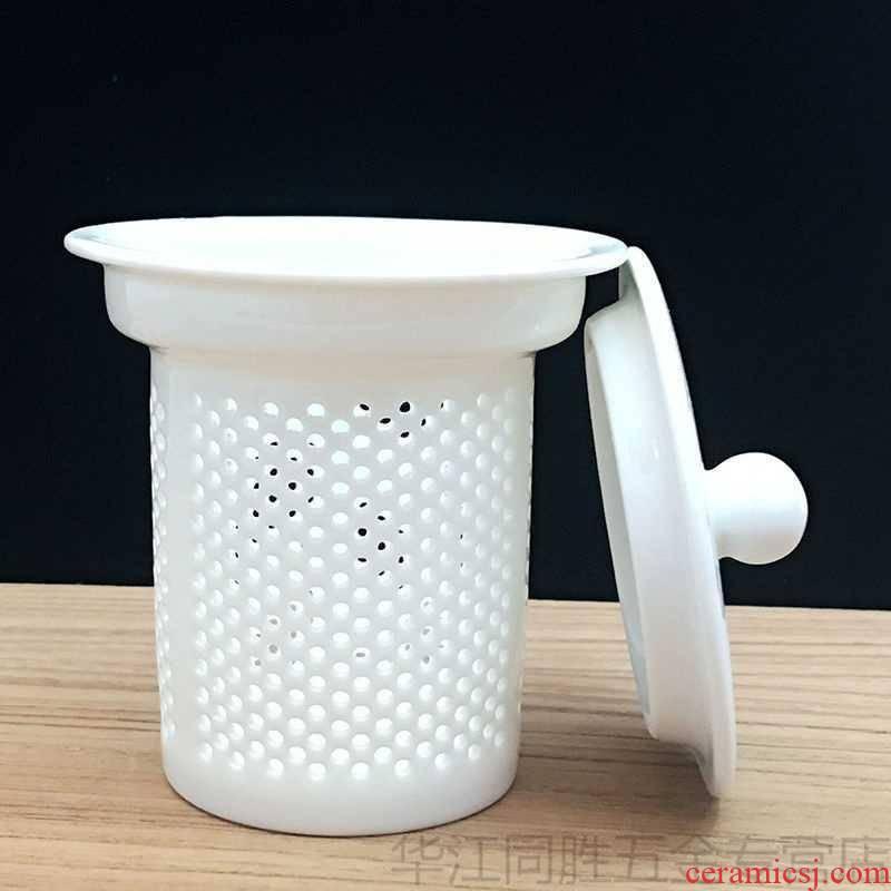 Pan glass teapot ceramic filter accessories enamel - lined tea cups) tea tea filter separator with cover