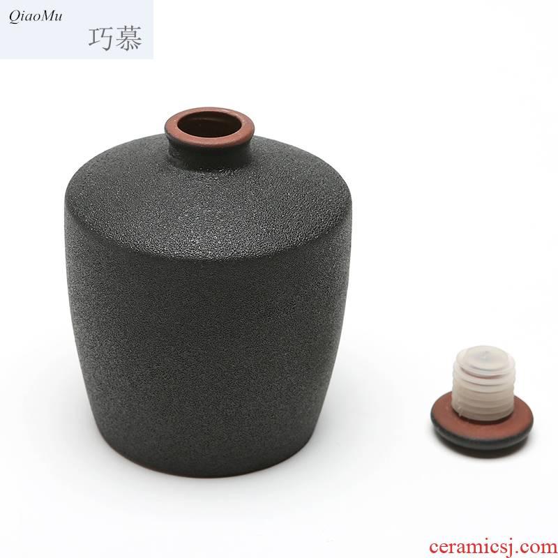 Qiao mu ceramic bottle pack a kilo earthenware jar decoration ideas archaize wind seal hoard wine flask