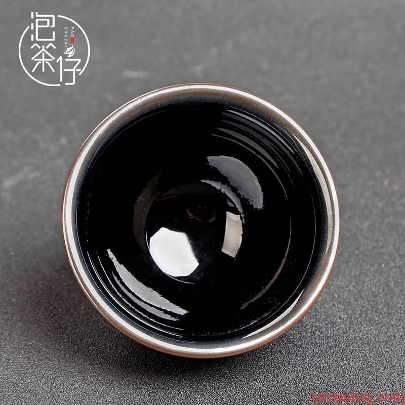 Jianyang built light tea masters cup expressions using black porcelain glaze sharply beam light cup single cup tea cups ceramic bowl