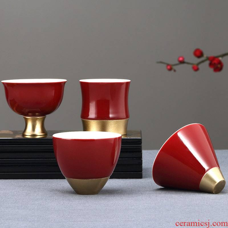 Qiao FengZi ceramic cups for Taiwan master cup single CPU kung fu tea set sample tea cup bowl household fragrance - smelling cup