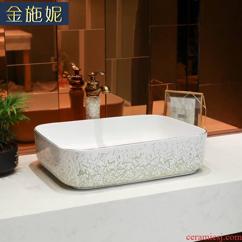 Light key-2 luxury Japanese contracted wind up phnom penh stage basin round ceramic single basin sinks the sink basin