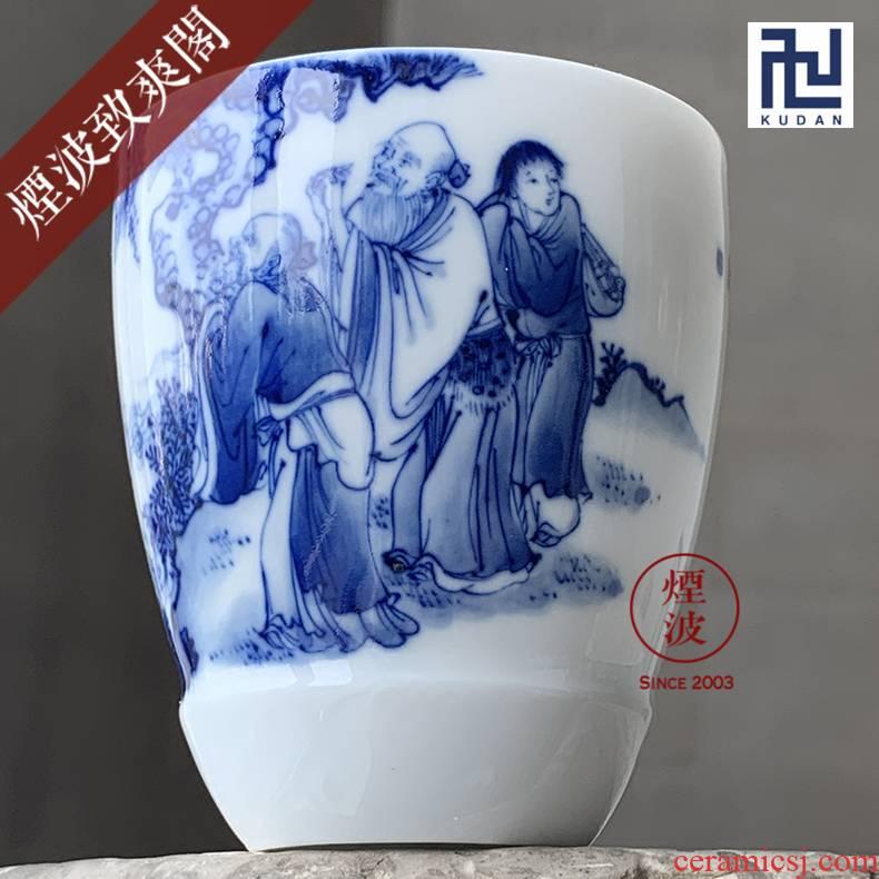 Jingdezhen nine wonderful hand burn hand - made porcelain nine paragraphs offer longevity figure mold cup sample tea cup tea cups