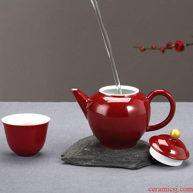 Qiao mu Taiwan FengZi ceramic cups of a complete set of kung fu tea tea tea cozy set of household of Chinese style tea cups