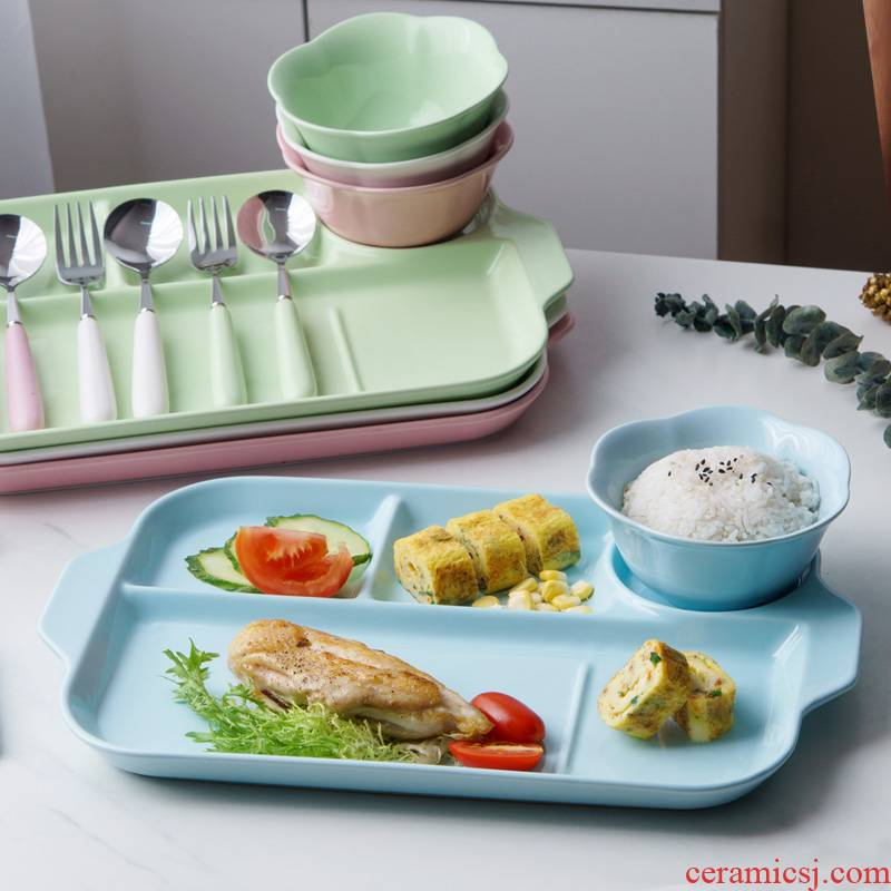 Creative ears disc ceramic points four frames plate canteen restaurant fast food dish home dishes afternoon saucer dish adults