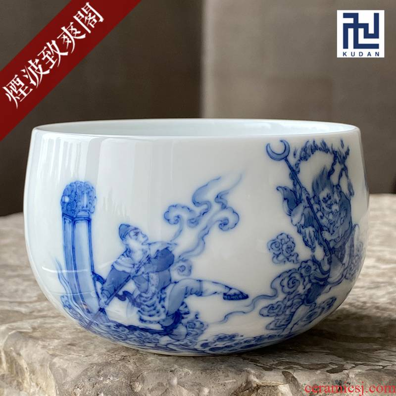 Jingdezhen nine burn hand - made porcelain nine paragraphs furnace type experienced war quicksand river cup cup