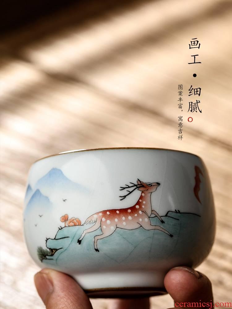 Jingdezhen pure manual your up kung fu tea master cup single CPU hand - made ferro, sample tea cup single ceramic cups
