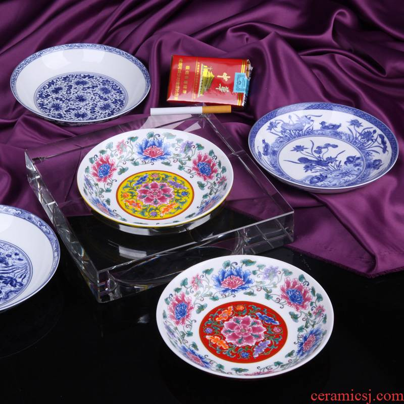 Ou crystal ashtray creative ceramics ipads porcelain two - piece palace home sitting room office
