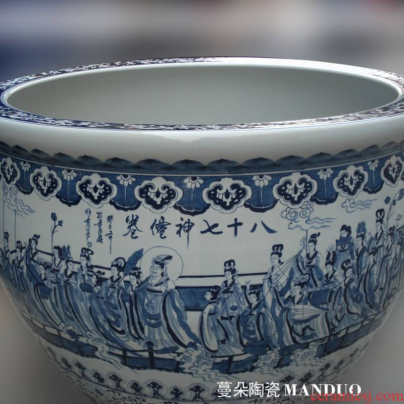 Jingdezhen hand - made eighty - seven celestial VAT full volume porcelain dragon lavishness VAT 1.2 m diameter