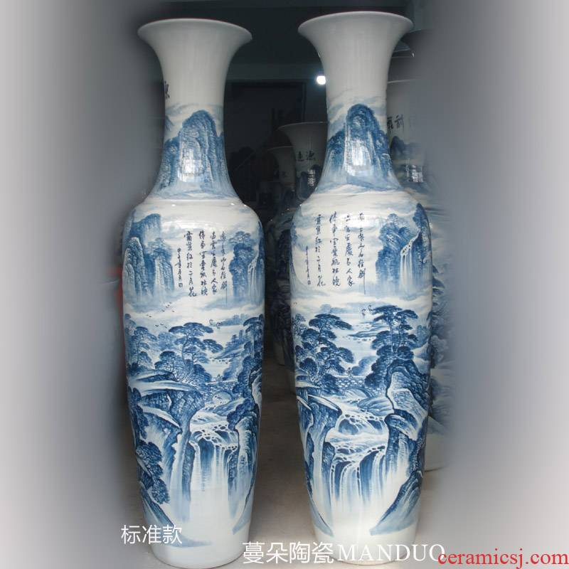 Jingdezhen hand - made scenery goes back to ancient times China company has the opened the hall lobby of large vases bottles