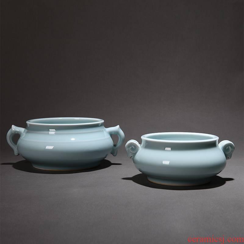 Censer ta disk present brother celadon ceramics up powder green ears Censer aroma stove furnace