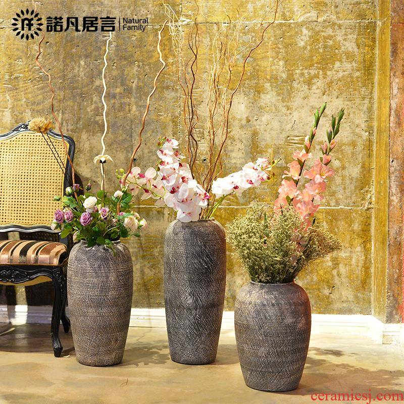 Europe type restoring ancient ways of creative ceramic pottery and porcelain vase of large sitting room household soft adornment hotel furnishing articles flower arrangement