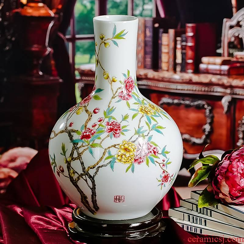 Jingdezhen ceramics vase sitting room place rich flower adornment large vases, excluding the base at home