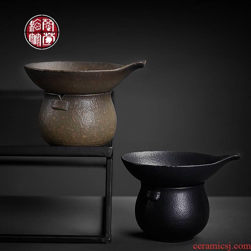 Coarse pottery) tea filter mesh suit superfine tea fair keller creative lovely move ceramic tea filters