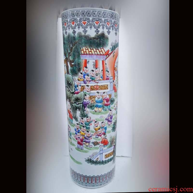 Jingdezhen hand - made enamel vase sitting room adornment that occupy the home furnishing articles of high - grade ceramic vase quiver