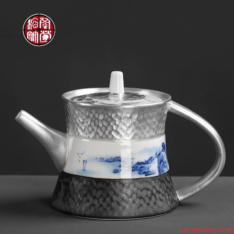 Ultimately responds tea pot with filtering kung fu small single pot 5 ceramic household Japanese vintage single coppering. As silver tea set