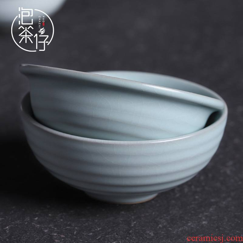 Your up tea masters cup, valentine day cyan porcelain cups personal single CPU open piece of ice to crack the sample tea cup for