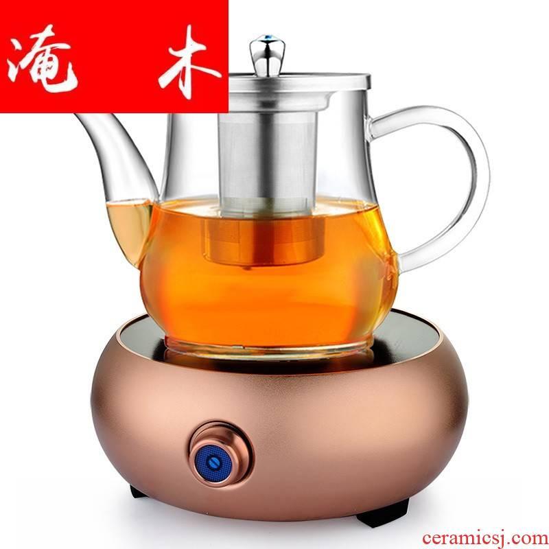 Submerged wood boiling tea kettle refractory glass pot of black tea tea teapot electric TaoLu creative combination suit