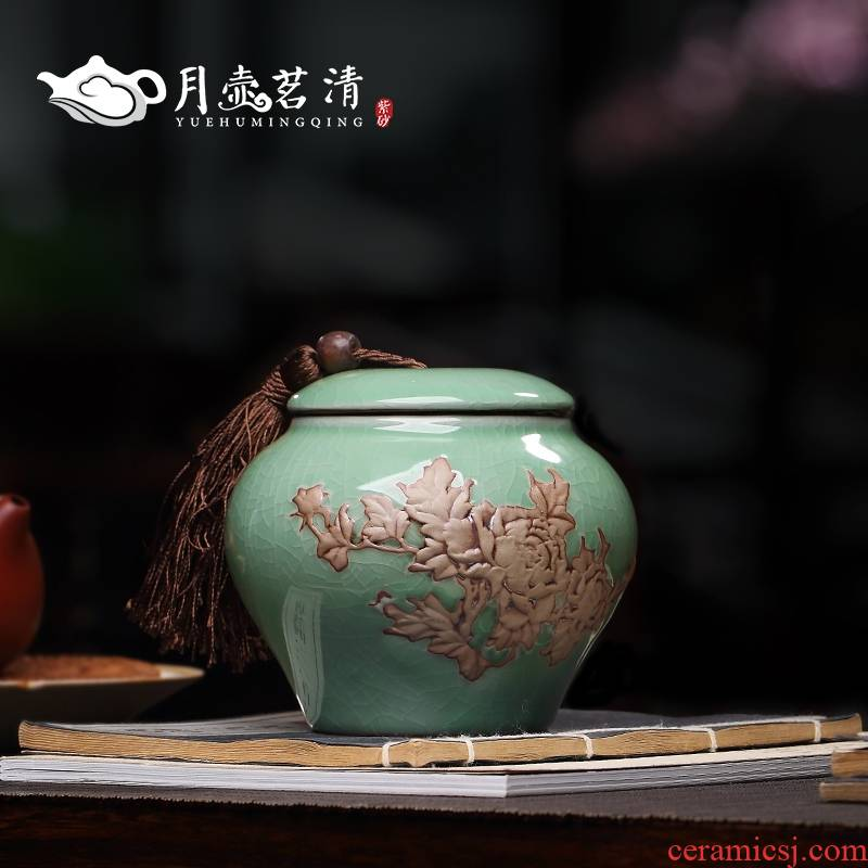 Qiao mu YH ceramic tea pot large sealed container storage POTS and POTS celadon caddy fixings gift box