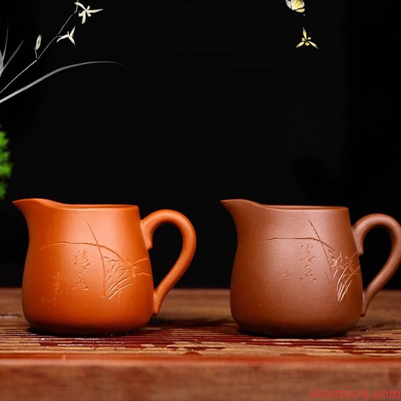 Qiao mu YM yixing ores are it purple sand cup accessories kung fu tea tea spearmint fair keller
