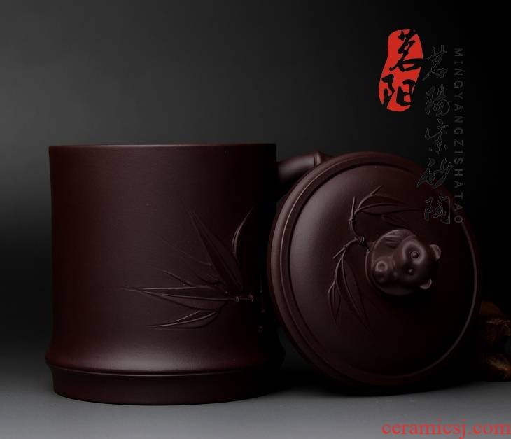 Qiao mu MY yixing undressed ore purple sand cup manually authentic cover cup gift large teacup kung fu tea hugely increased