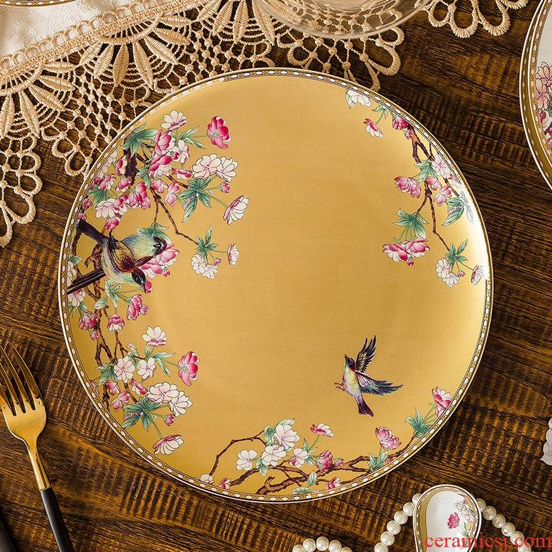 Qiao mu dishes suit dishes chopsticks home ipads porcelain tableware jingdezhen ceramics from Korean Nordic to use the methods