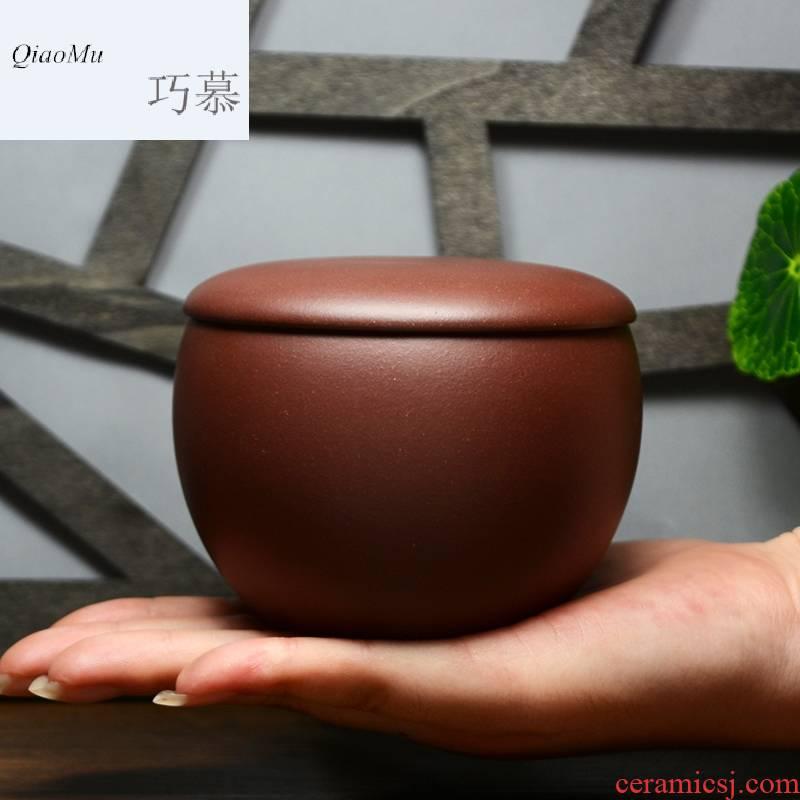 Qiao mu QD yixing purple sand tea urn undressed ore pure purple clay pot pu 'er tea small manual wake receives a free moment