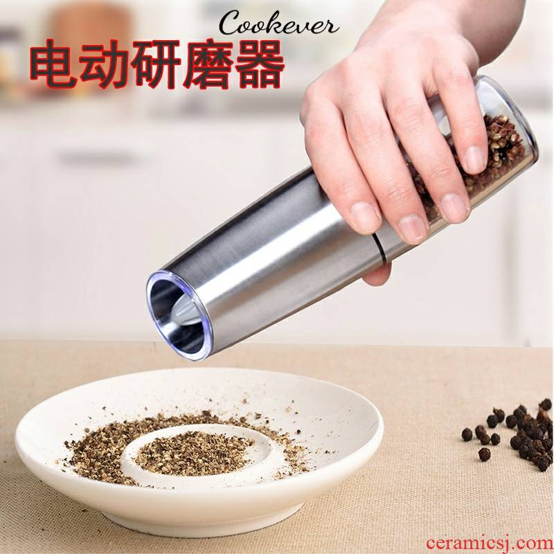 Adjustable ceramic core electric pepper mill grinding haiyan prickly ash black pepper mill accelerometer automatic grinding jar