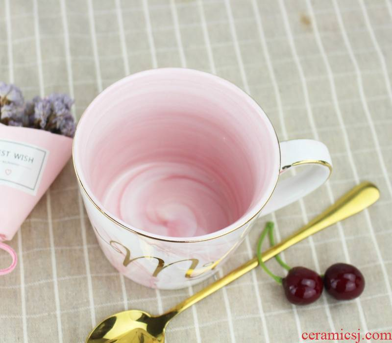 Qiao mu cup one creative marble ceramic cup European up phnom penh office keller cup men and women