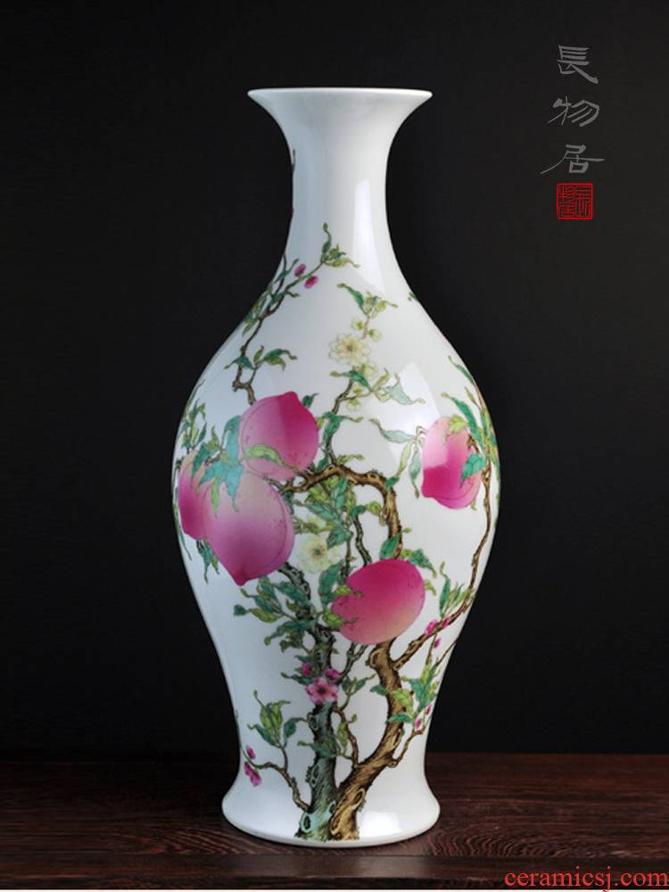 Offered home - cooked taste at high imitation yongzheng hand - made pastel live olive bottles of jingdezhen ceramic vases, flower receptacle furnishing articles