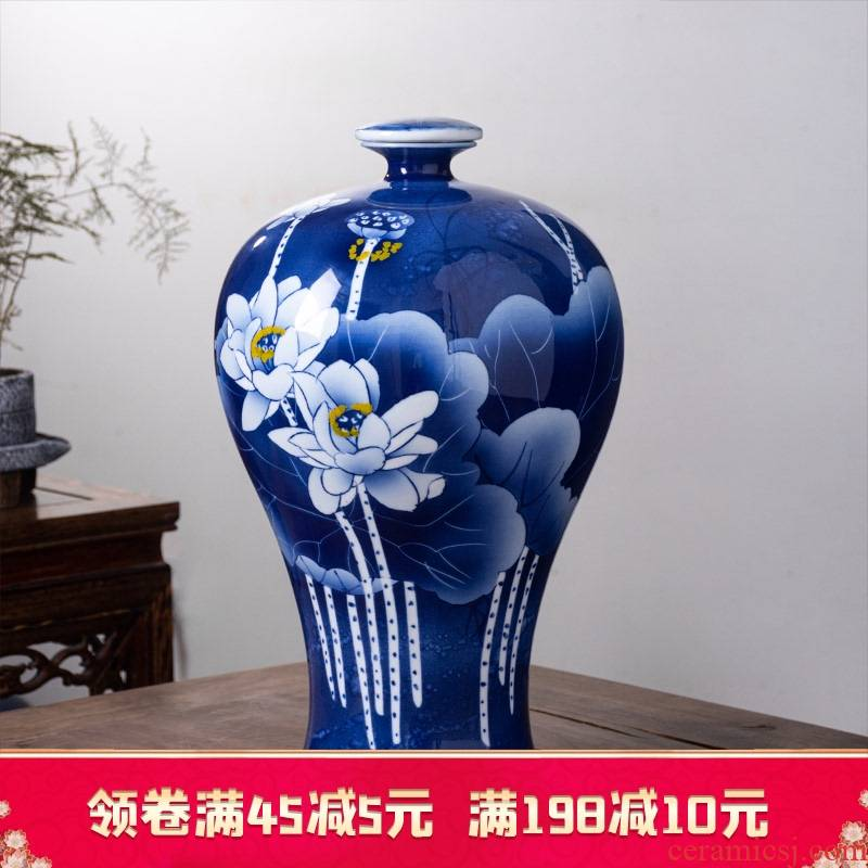 Jingdezhen ceramic bottle is 15 kg pack home empty jar sealing hand - made porcelain altar wine pot liquor jugs