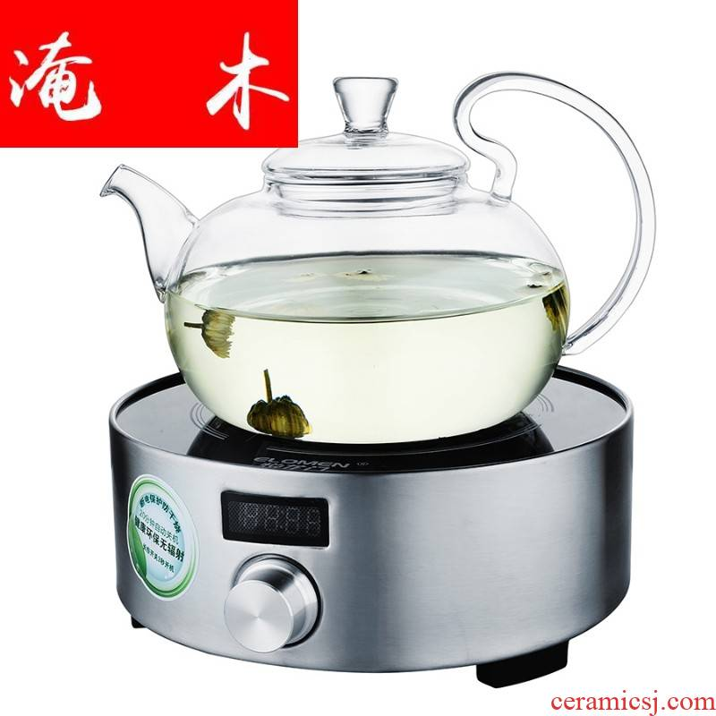 Submerged wood high temperature curing glass teapot health household electrical TaoLu tea set water boiling kettle furnace'm