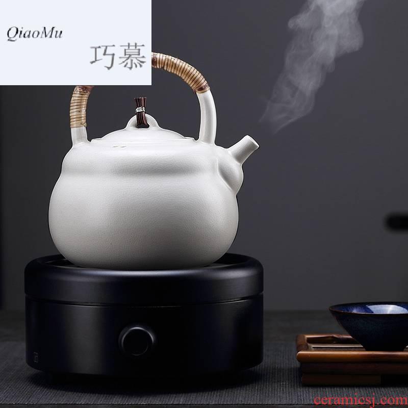 Qiao mu soda glaze white clay pot boiling kettle pot pot kung fu tea set electric kettle clay POTS to girder