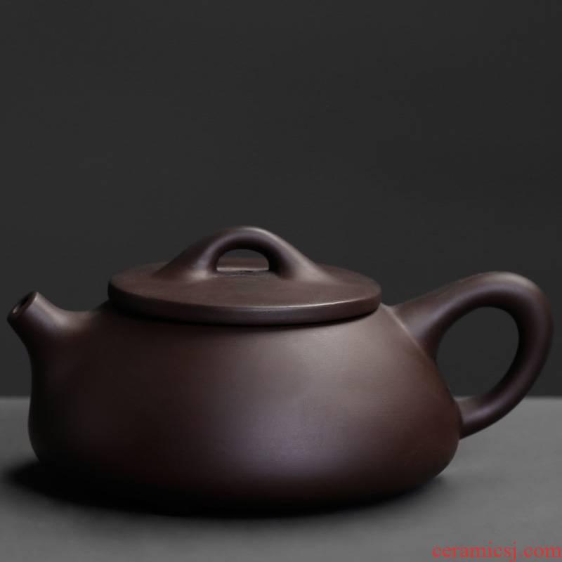 Yixing teapot it a single manual office stone gourd ladle pot home of kung fu tea set ceramic single pot of trumpet