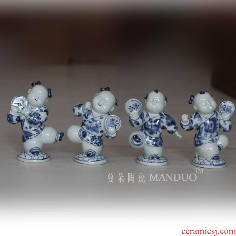 Jingdezhen tong qu fu lu ShouXi character decorative furnishing articles furnishing articles tong qu fu lu ShouXi implication