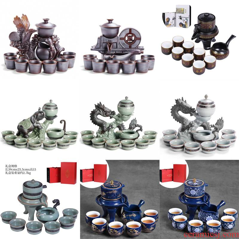 Fit creative lazy automatic tea ware home sitting room office receive a visitor ceramic kung fu tea sets tea cups