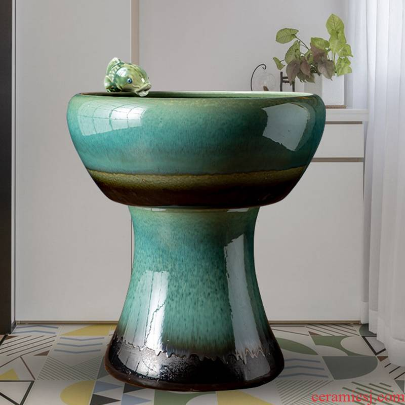 Humidifier fish basin of jingdezhen ceramic home furnishing articles added oxygen cylinder tortoise water fountain large - sized tank sitting room
