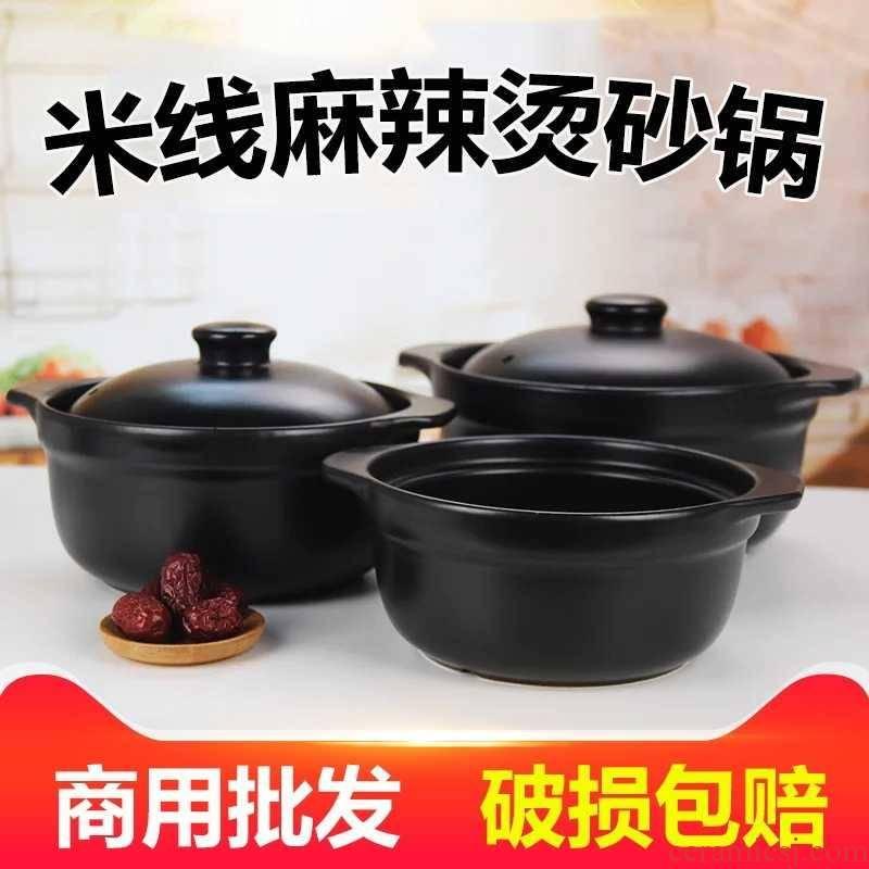 The Sand pot rice vermicelli potato powder special - purpose pot gas buner soup ShaWo home old clay 1-2 people ltd. hotel