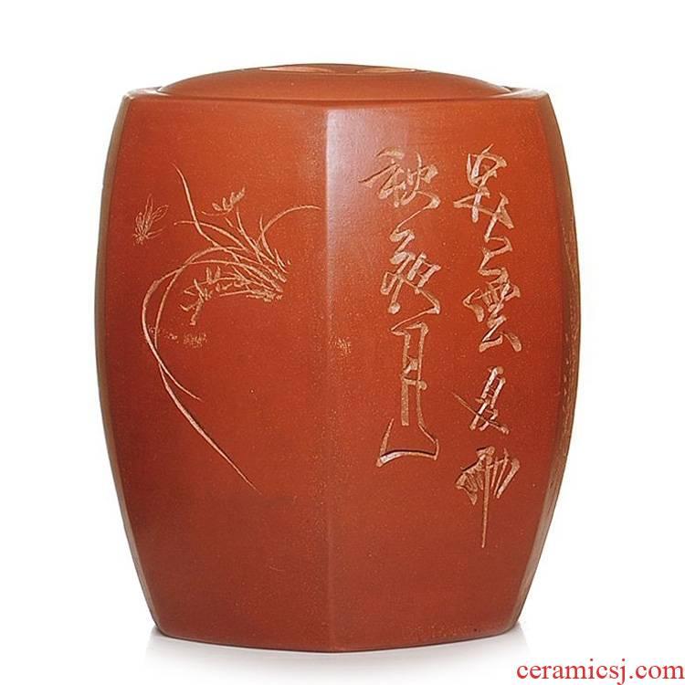 Qiao mu JS essence as the purple sand tea cake caddy fixings/wake POTS/large scattered tea cylinder by hand
