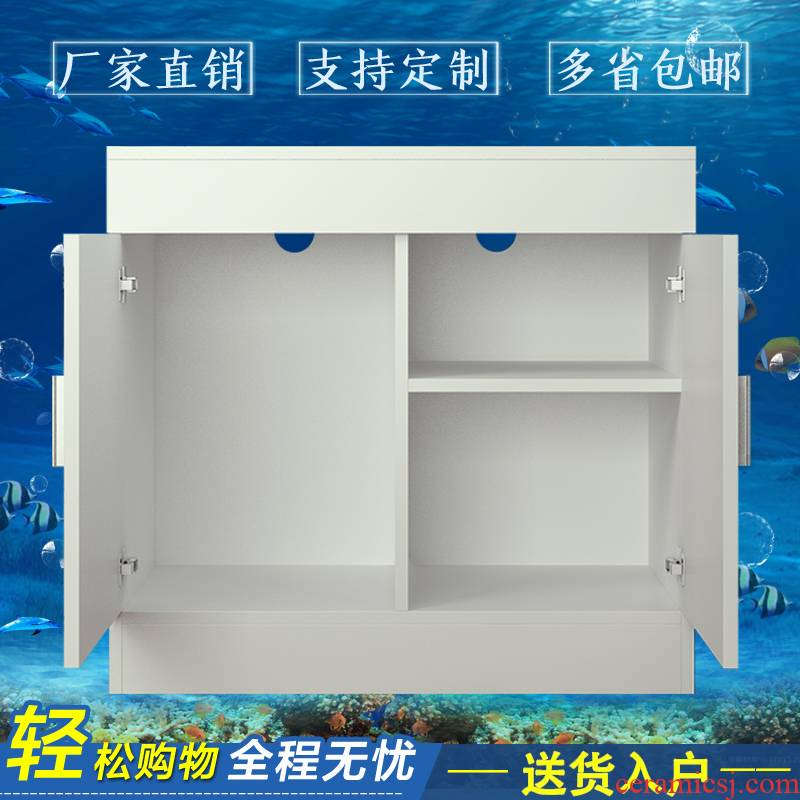 The Custom sitting room partition tank bottom ark cabinet aquarium base shoe ark, super white ground ark, grass cylinder tank bottom ark