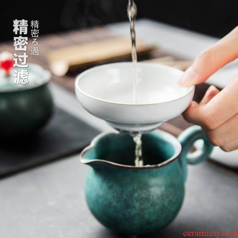 Qiao mu hoops) tea filter ceramic filters filter kung fu tea tea strainer coarse pottery creative tea