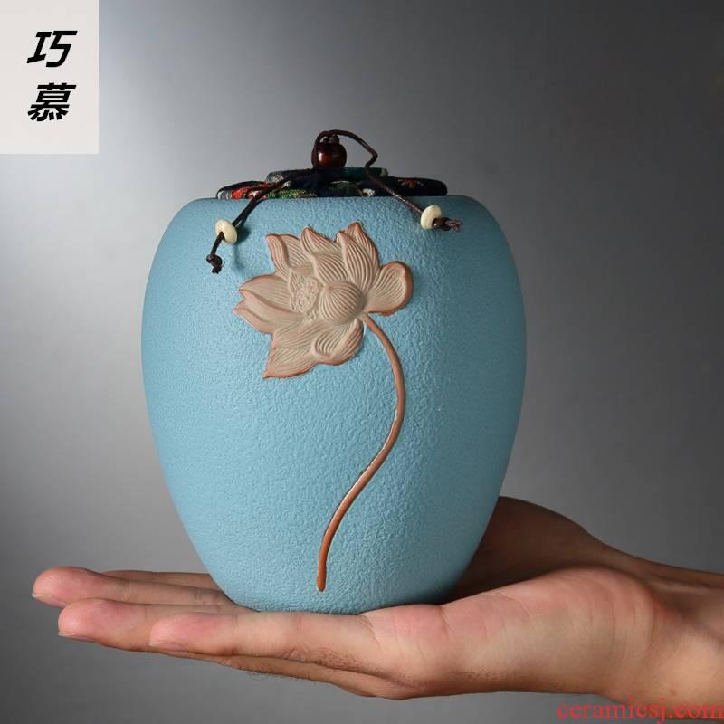 Qiao mu ceramic tea pot size lotus seal pot black tea tea pot coarse TaoCun tank lawsuits