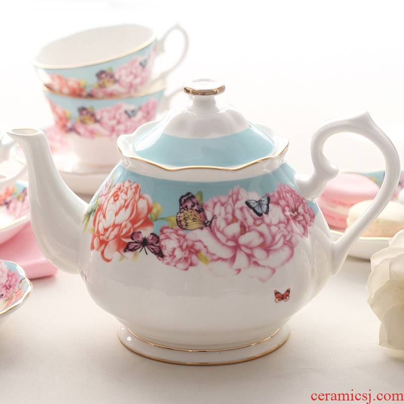 Qiao mu royal British rural Miranda butterfly ceramic English afternoon tea pot ipads porcelain coffee pot