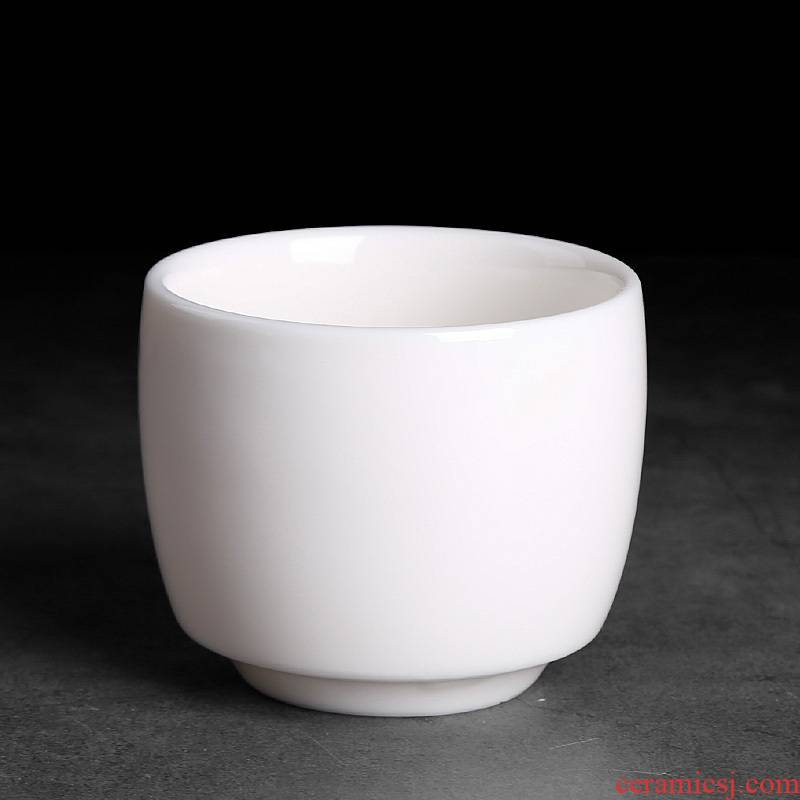 High dehua white porcelain domestic large master cup cup pure white ceramic cups single single kung fu tea