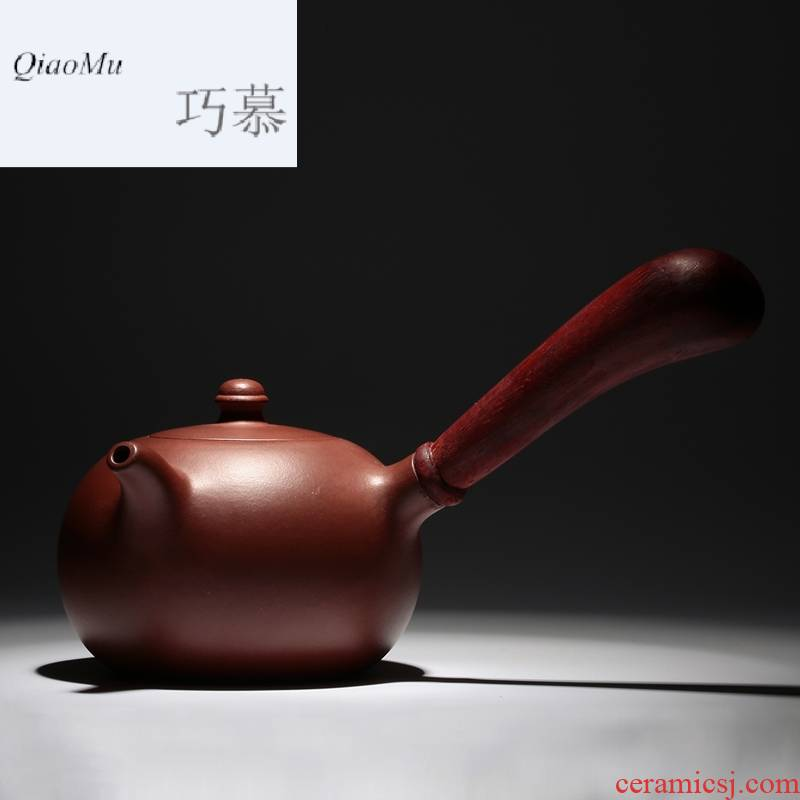 Qiao mu it side put the pot of yixing masters all hand undressed ore Tang Yu purple clay pot of annatto side teapot