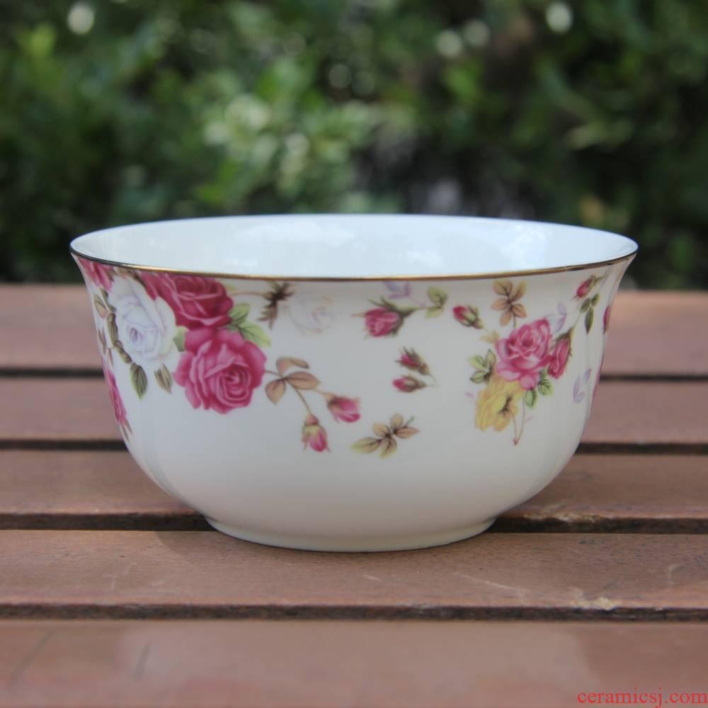 Qiao mu tangshan ipads porcelain two 4.25 inch - tonne admiralty bowl of rice bowls bowl Korean soup bowl dip bowl of up phnom penh