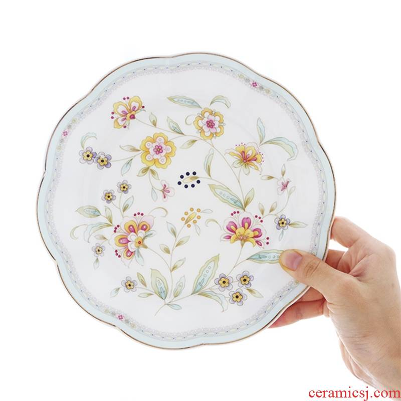 Qiao mu English afternoon tea tea set ipads porcelain dessert dish plate ceramic European - style home plate