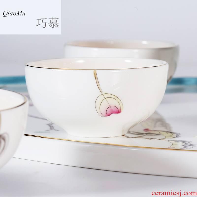 Qiao mu SU ipads porcelain tea set a pot of ink Ye Jinhui 8 head group six glasses of a complete set of ipads China kung fu tea tea