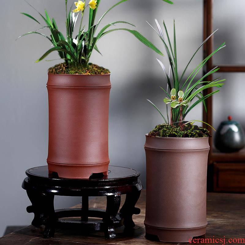 Orchid basin orchids for its fleshy flowerpot purple sand flowerpot money plant flower pot clivia 2019 new plastic