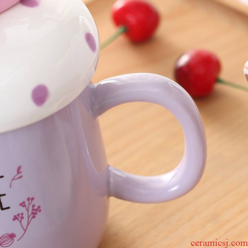 Qiao mu | ceramic keller cup with cover creative ultimately responds a cup of coffee cup couples microwave office