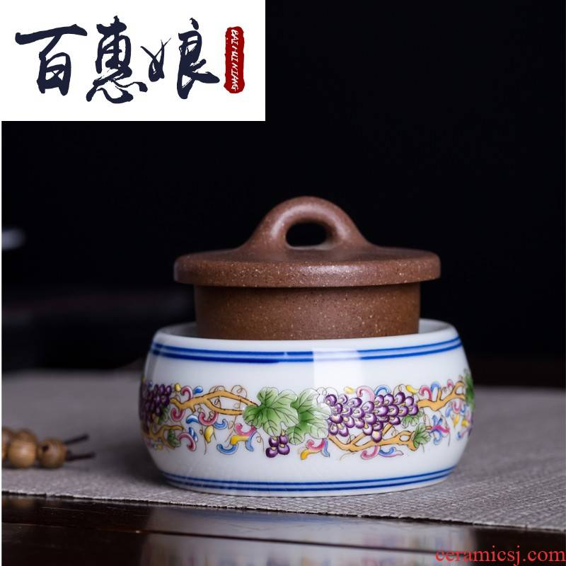 (niang checking ceramic cap lid doesn cover cup mat furnishing articles tea tea accessories porcelain enamel